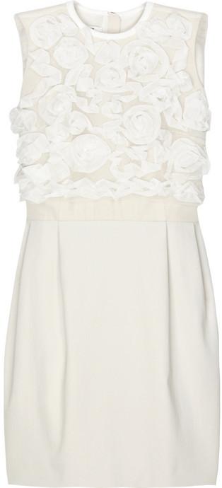 Carven Rosette shift dress