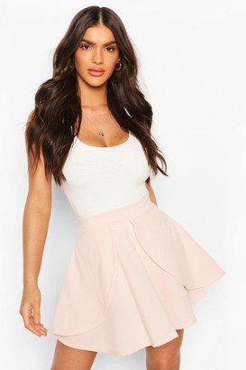 boohoo Overlayer Skater Mini Skirt