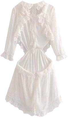 Goodnight Macaroon 'Taylor' Broderie Anglaise Ruffle Cutout Open Back Romper