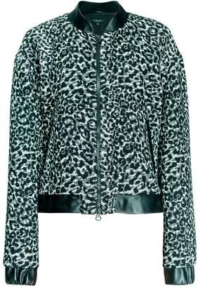 Leka Leopard Print Bomber Jacket