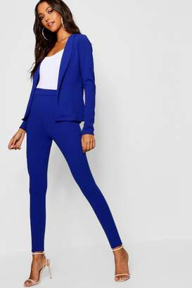 boohoo Crepe Fitted Suit