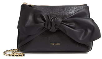 Ted Baker Darnna Soft Knot Leather Clutch