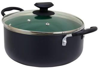 Eco-Friendly Home Hummington 5 Quart Green Ceramic Non-Stick Dutch Oven with Lid in Matte Grey