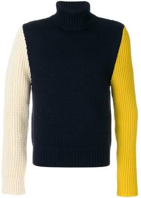 Calvin Klein ribbed colour block sweater