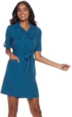 Women's Sharagano Asymmetrical Shirt Dress