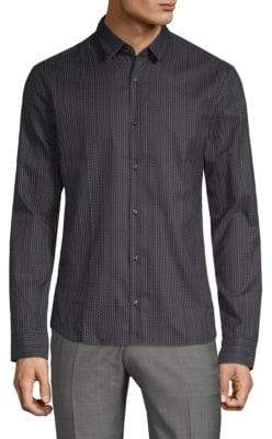 HUGO BOSS Ero Printed Long-Sleeve Shirt