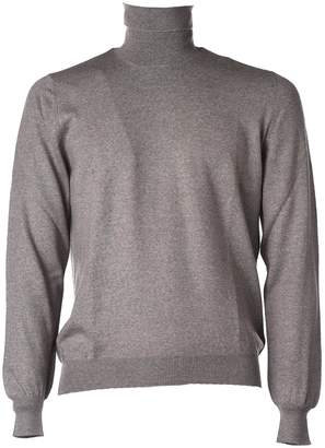Fay Grey Turtleneck Jumper