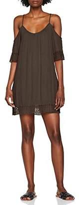 Only Women's Onlmarika Coldshoulder S/s WVN Dress,(Manufacturer Size: 40)