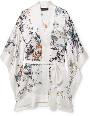 5247d3fefa MENG - Floral-print Silk-satin Kimono - White