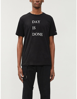 Selfridges The Soloist Day is Done branded-print cotton-jersey T-shirt