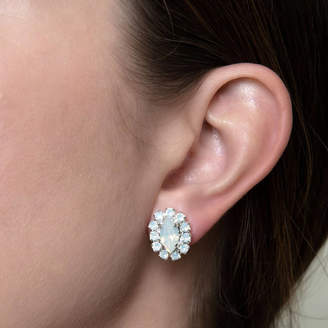 Iscah and Mimi Crystal Marquise Bridal Earrings