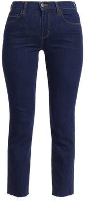 L'Agence Sada High-Rise Cropped Slim Kick Jeans