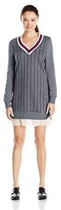 U.S. Polo Assn. Juniors' Cable Knit V-Neck Varsity Dress