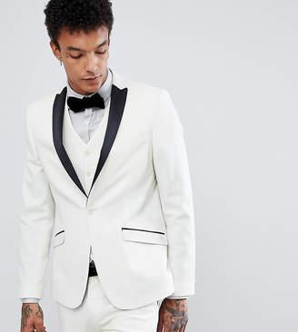Heart & Dagger tuxedo skinny suit jacket in satin