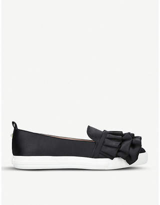 Miss KG Livia ruffled satin slip-on trainers