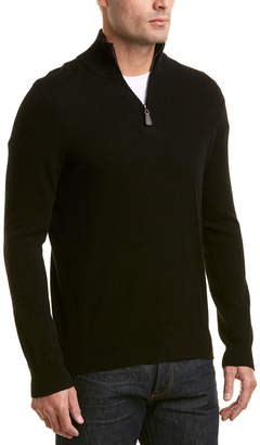 Phenix Cashmere 1/4-Zip Mock Sweater