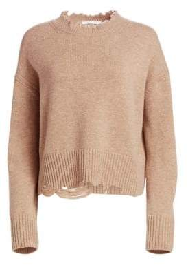 Helmut Lang Wool& Cashmere Distressed Pullover