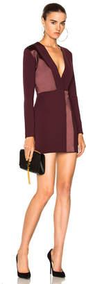 Dion Lee Spliced Silk Mini Long Sleeve Dress