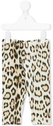 Roberto Cavalli Junior leopard print leggings