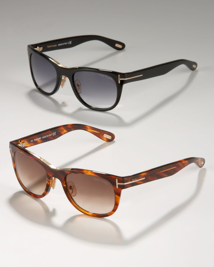 Tom Ford Jack Sunglasses, Black