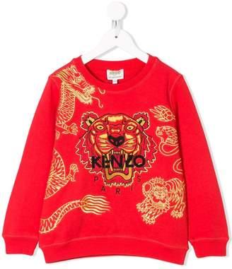 Kenzo logo tiger embroidered sweatshirt