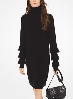 Michael Kors Wool-Blend Turtleneck Dress