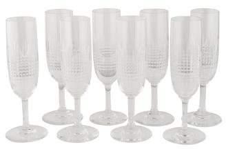 Baccarat Set of 8 Nancy Fluted Champagne Glasses