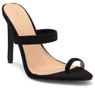 Chase & Chloe Pointed Toe Loop Slip-On Stiletto Sandal