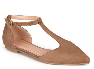 Journee Collection Womens Vera Ballet Flats Buckle Pointed Toe
