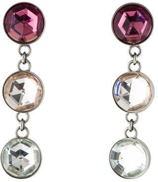 Miu MiuMiu Miu Crystal Drop Clip-On Earrings