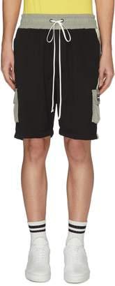 Daniel Patrick Logo stripe outseam cargo gym shorts