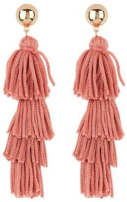 Ettika Fabric Tassel Earrings