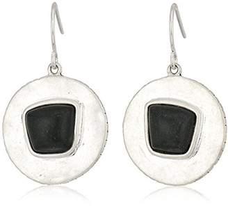 The Sak Semi-preciousRound Drop with Stone Drop Earrings