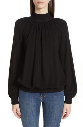 Co Cashmere High Neck Blouson Sweater