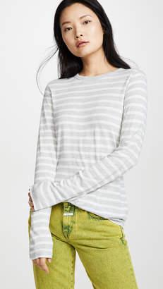 Alexander Wang Striped Slub Long Sleeve Top