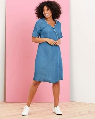 bb1042f29a6db Capsule Soft Tencel Denim Wrap Dress