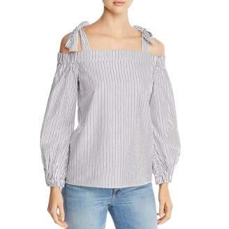 68c0f4d9a591c9 MICHAEL Michael Kors Womens Off The Shoulder Tie Pullover Top B W L