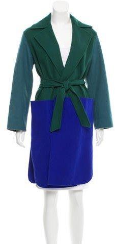 Max MaraMaxMara Wool-Blend Colorblock Coat