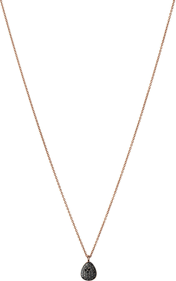 Links Of LondonLinks of London Hope 18ct rose-gold and black diamond necklace