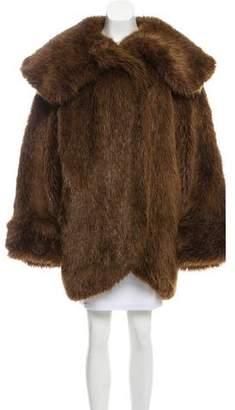 Lanvin Oversize Faux Fur Coat