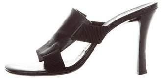 Vera Wang Leather Slide Sandals