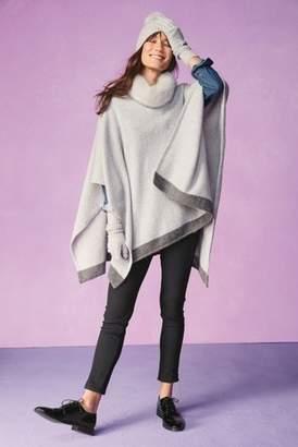 Next Womens Grey Cashmere Mix Poncho