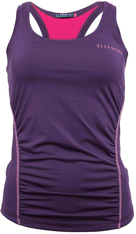 ELLE SPORT Damen Ruched Performance Support Top Lila
