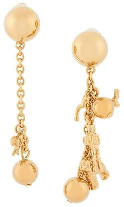 Marni asymmetric animal charm earrings