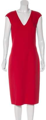 Michael Kors Virgin Wool Midi Dress Red Virgin Wool Midi Dress