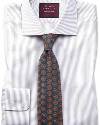 Charles Tyrwhitt Slim fit grey stripe luxury shirt