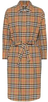 Burberry Checked cotton shirt dress