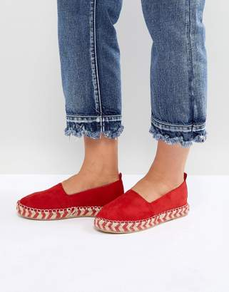 Glamorous Flatform Espadrille in Red