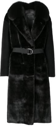Blancha contrast sleeve coat