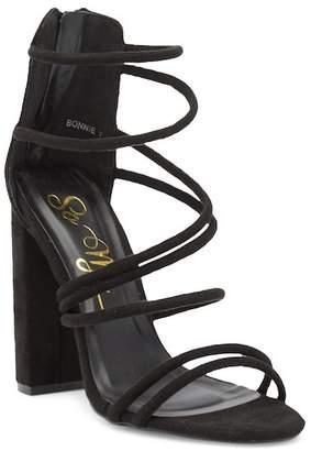 SoMe Bonnie Strappy Chunky Heel